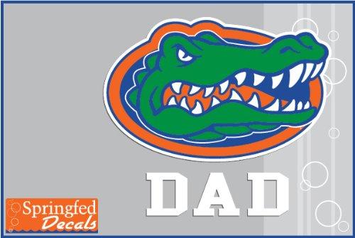 Florida Gators Dad W/ Gator Head Logo #2 Vinyl Decal Car Truck Window Uf Dad Sticker