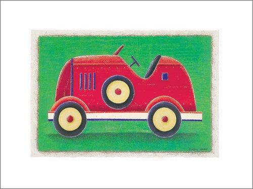 "Art 4 Kids ""Racing Car"" Mounted Art Print, 15""X12"" front-745841"