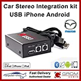 Grom Audio (USB3) USB Android iPhone car stereo integration kit for Mazda - supports Apple Lightning connector. Mazda 3 5 6 MX5 MPV RX-8 CX-7 BT