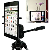 "ChargerCity Exclusive Apple iPad Mini (All Generations) Google Nexus 7 8 9 FHD Samsung Galaxy Tab 7"" to 9"" inch Tablet Tripod MonoPod Video Recording Camera Adapter Mount with 1/4-20 Thread Adapter & 360 Degrees Angle Adjustment Holder (IPAD MINI & Tripod is not included with purchase)"