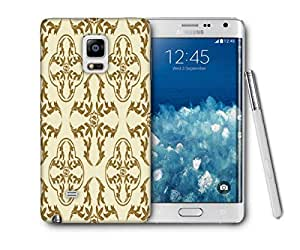 Snoogg Yellow Abstract Pattern Printed Protective Phone Back Case Cover For Samsung Galaxy NOTE EDGE