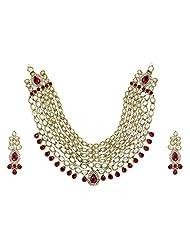 Grand Mughal Kundan Beautiful Long Necklace Set-ZPFK4152