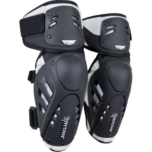Fox Racing  Titan Pro Adult Elbow Guard Off-Road Motorcycle Body Armor - Black/Silver / Small/Medium