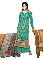 Saheli Fabric Women's Georgette Unstitched Salwar Kameez Dress Material