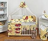 Ensemble set complet 13 pieces parure de lit literie pour bébé 70x140 (lit) (dessin: voitures heureuses)...