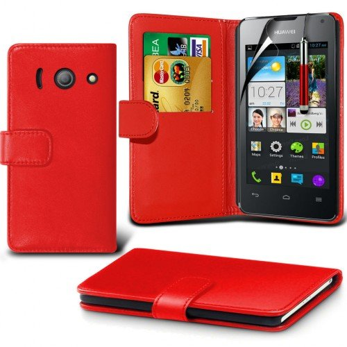 huawei-ascend-y300-leather-wallet-case-cover-redplus-free-gift-screen-protector-and-a-stylus-pen-ord