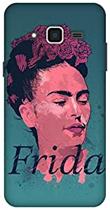 The Racoon Frida Kahlo - History of Art hard plastic printed back Case for Samsung Galaxy J3 (2016)