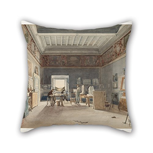 oil-painting-joseph-eugane-lacroix-a-studio-in-the-villa-medici-rome-cushion-covers-16-x-16-inches-4