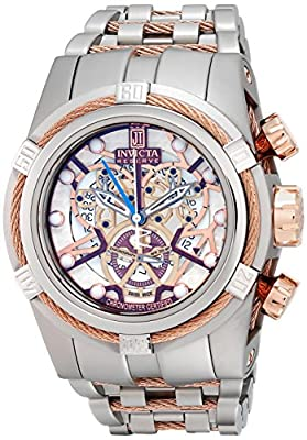 Invicta Men's 14428 Jason Taylor Analog Display Swiss Quartz Silver Watch
