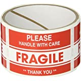 TapeCase SHIPLBL-040-50 Fragile, Thank You Label (50 Per Pack)