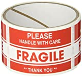 "TapeCase ""Fragile, Thank You"" Label - 50 per pack (1 Pack)"