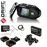 Drift GHOST Wi-Fi Full 1080p 32GB Camcorder + Remote + Extra Adhesive + Lens Changing Kit + Spare BT + Handlebar Mount + Tripod Quick Release