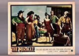MOVIE POSTER: THE MIRACLE-ROGER MOORE-1959-GREAT LOBBY CARD! FN
