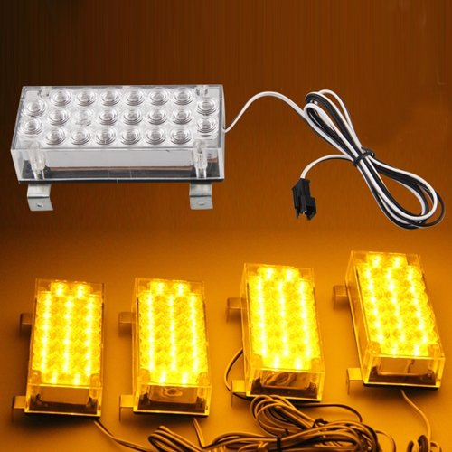 88 LED yellow Strobe Emergency Flashing Warning Light for Car