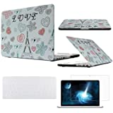 Topideal 3 in 1 Retina 13-Inch Paris Tour Eiffel Design Rubber Coated Matte Solid Hard shell Case Cover for Apple MacBook Pro 13.3