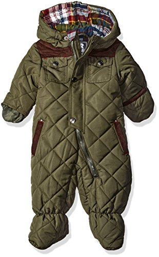Rothschild Baby Boys Quilted Pram, Olive, 3/6 Months