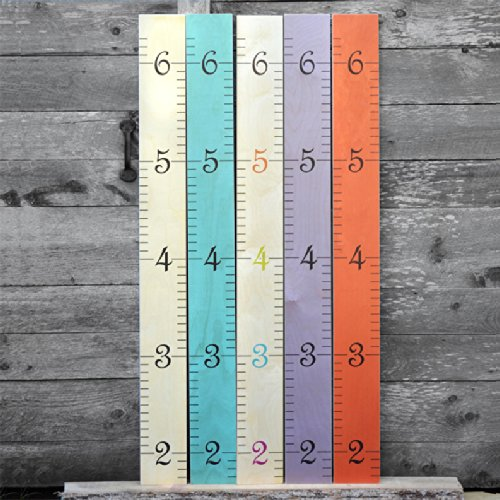 Kids Wall Hanging Wooden Ruler Growth Chart Height Chart For