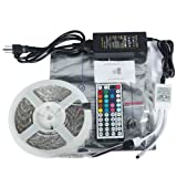 EC TECHNOLOGY® 12V/ 5A 60W Waterproof LED Flexible Light Strip,With 300 SMD 5050 RGB LEDs, 5 Meter
