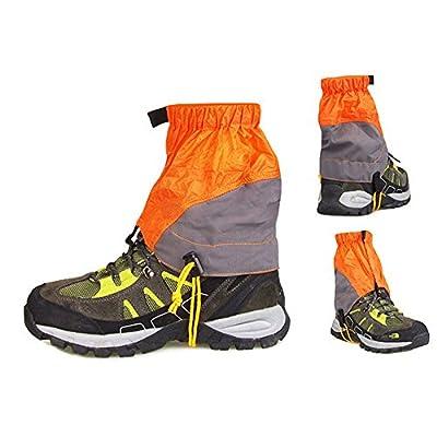 Ezyoutdoor 1 Pair Unisex Outdoor Durable Snowproof Waterproof Ultra-light Gaiters Walking Gaiters Snow Legging Leg Cover Wraps for Outdoor Hiking Climbing Hunting Camping