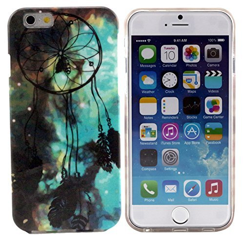 Vandot 1X Accessory Set Premium Silicone Tpu Phone Case Dream Catcher Protective Case For New Apple Iphone 6 Plus 5.5 Inch Smartphone Cell Phone Skin Case Cover Bumper Case Skin Cover Pouch Skin Shell + 2 X Premium Screen Protector Ultra Clear Screen Prot front-628425
