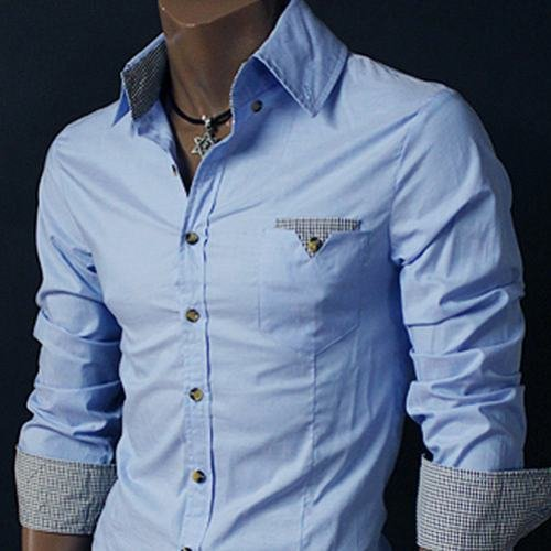 New LUXURY PREMIUM Mens Casual Slim fit Dress Shirts FINE Colletion
