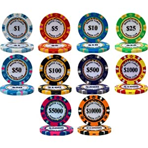 Click to buy Monte Carlo 14gm Clay 500 Bulk Poker Chips - Choose from Amazon!