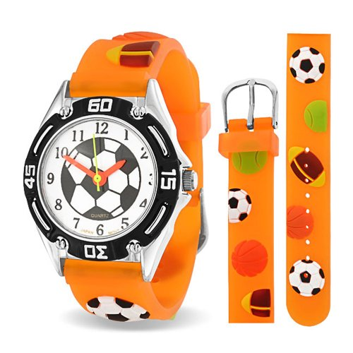 Bling Jewelry Orange Analog Multi Sports Kids