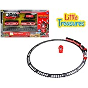 Little Treasures High Quality Steam Locomotive Train Set Complete With Additional Passenger Carriages Fun For...
