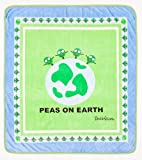 David & Goliath 100-Percent Polyester Peas On Earth Throw