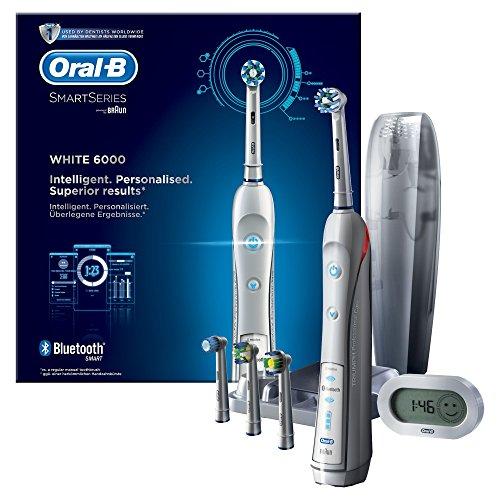 Oral-B Crossaction 6000 White Spazzolino Elettrico Ricaricabile con Connettività Bluetooth