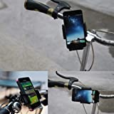 BESTEK® Supporto da Bicicletta/Bici/Moto per iPhone 6,5,4S/iPod/GPS/Samsung Galaxy/HTC/Blackberry di larghezza fino a 99mm, 360 Gradi di Rotazione BTBM01-IT thumbnail