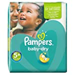 Pampers Windeln Baby Dry Gr. 5+ Junio...