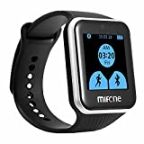 MIfONE Smart Watch 2.5D Curved Sapphire Touch Screen, Force Touch TPSI Band Built-in Bluetooth with LED Display Health Moniter Anti-lose Handsfree Answering Phone Calls Compatial with IOS/Android/Symbian/BlackBerry OS/Windows Phone (Black)