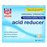 Rite Aid Acid Reducer, Famotidine tablets, 10 mg 30 ea