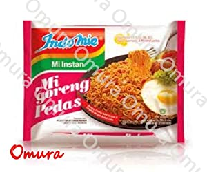 Indomie FRIED NOODLE HOT AND SPICY, Goreng Pedas, 100% HALAL, 2.82pz/80g, Pack 30 from Indomie