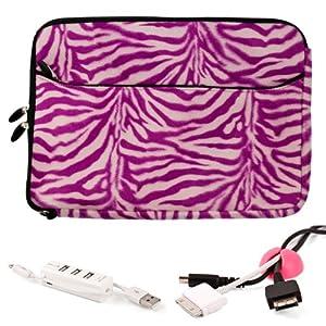 magenta zebra animal fur design polyester cover sleeve for asus asuspro b53a 15 6. Black Bedroom Furniture Sets. Home Design Ideas