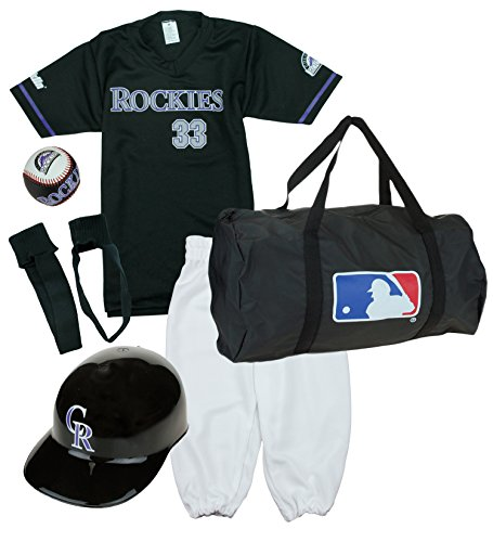 Franklin Colorado Rockies Baseball Youth Uniform Set Ages 7-10 Kids