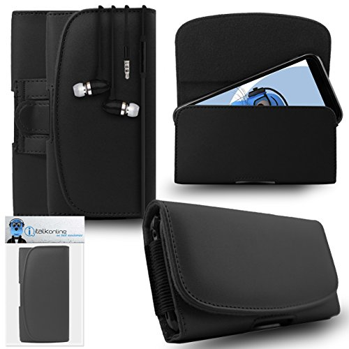 iTALKonline Samsung Galaxy A5 SM-A500G/DS Black PREMIUM PU Leather Horizontal Executive Side Pouch Case Cover Holster with Belt Loop Clip and Magnetic Closure Includes Black Premium 3.5mm Aluminium High Quality In Ear Stereo Wired Headset Hands Free Headphones with Built in Mic Microphone and On Off Button  available at amazon for Rs.565