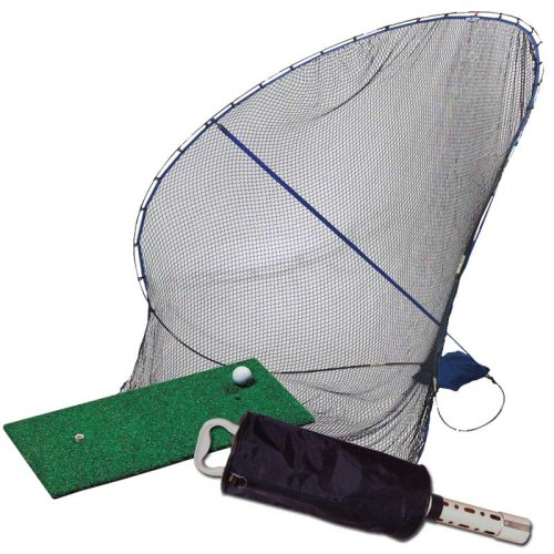 about izzo golf home on the range bundle net mat shag bag