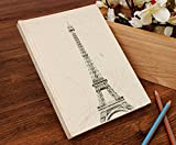 Store Indya Hardbound Journal Diary Book with Eiffel Tower Motifs
