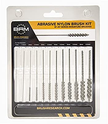 Brush Research Manufacturing 81AYMMKIT Abrasive Nylon Mini Brush Kit - Made in the USA - for Cross Hole Deburring (Metric Sizes)