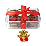 Chocholik Luxury Chocolates - Rich And Delicious 12pcTruffle Collection With Small Ganesha Idol - Diwali Gifts