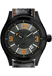 BALL Fireman Racer D:C Automatic Watch Grey Dial Orange Arabic Numerals 3H Gas NM3098C-L1J-GYOR
