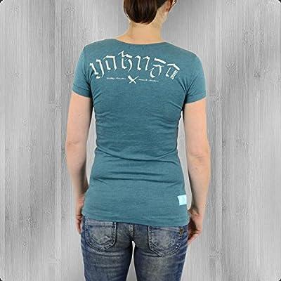 Yakuza Premium Frauen T-Shirt By The Devil GS 1845 blau melange - fällt 1 kleiner aus