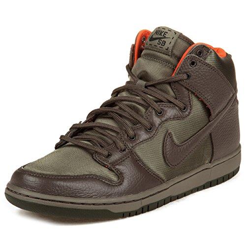 """Nike Mens Dunk High Premium Sb """"Kozik"""" Green/Olive-Khaki Synthetic Skateboarding Size 11"""