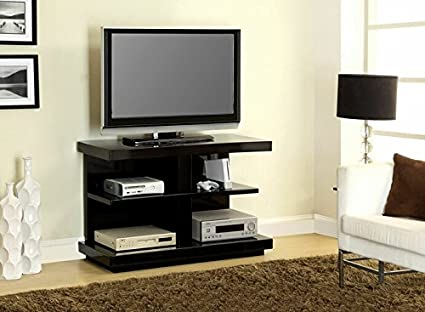 Coppo collection modern style black high gloss lacquered coating TV entertainment center stand