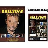 JOHNNY HALLYDAY 2016 CALENDRIER CALENDAR + JOHNNY HALLYDAY AIMANT DE RÉFRIGÉRATEUR