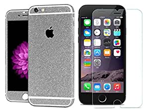 Heartly Sparking Protective Film Whole Body Phone Skin Sticker With Protective Tempered Glass For Apple Iphone 6 Plus / 6S Plus 5.5 Inch - Champagne Silver
