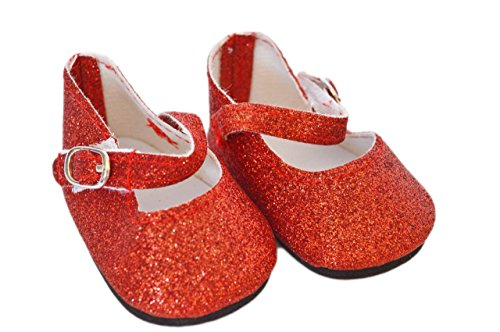 RED SPARKLE MARY JANES FOR AMERICAN GIRL DOLLS