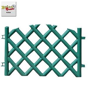 Steccato per giardino in pvc 70x42 recinzione per esterno for Recinzioni giardino in pvc
